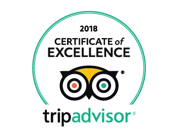 TripAdvisor Certificate of Excellence for our outstanding reviews